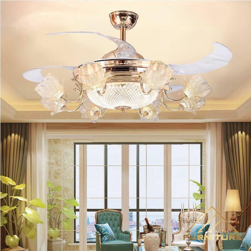 Quạt trần có đèn cánh cụp đẹp phải phù hợp với diện tích không gian căn phòng